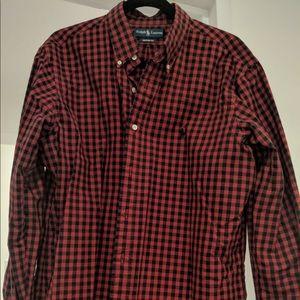 Ralph Lauren Custom Fit XL Shirt - red/black